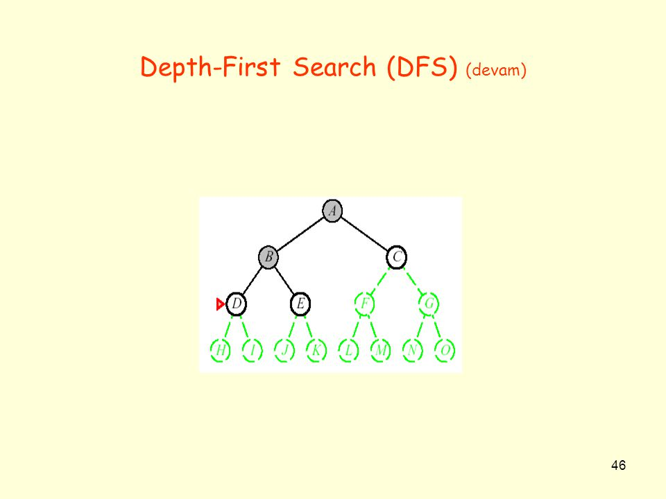 Depth-First Search (DFS) (devam)