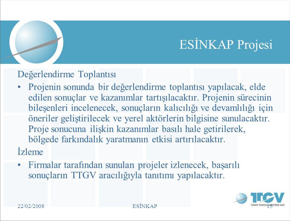 ESİNKAP Projesi Değerlendirme Toplantısı