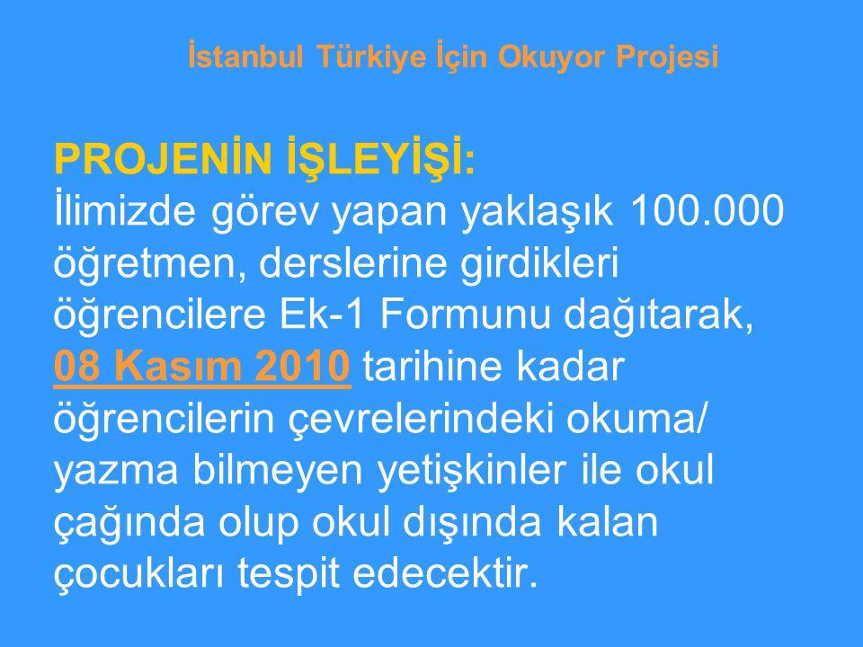 İstanbul Türkiye İçin Okuyor Projesi