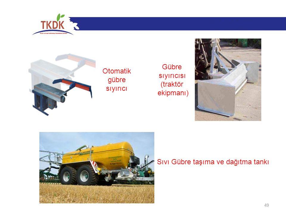 Gübre sıyırıcısı (traktör ekipmanı) Otomatik gübre sıyırıcı Sıvı Gübre taşıma ve dağıtma tankı