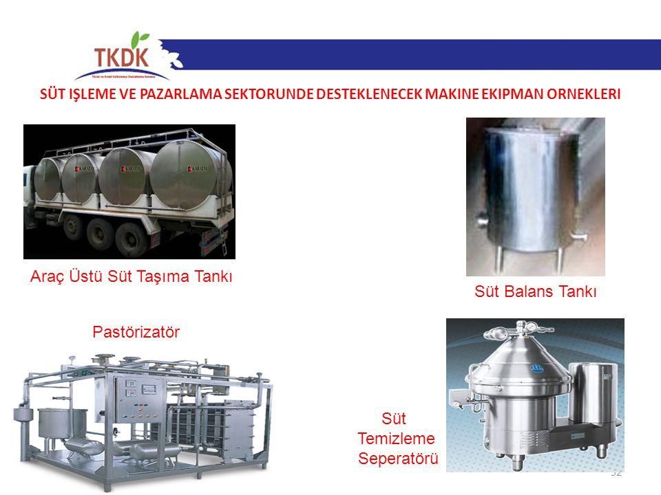 Araç Üstü Süt Taşıma Tankı Süt Balans Tankı