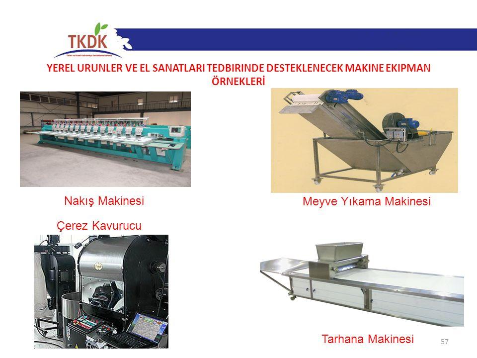 Nakış Makinesi Meyve Yıkama Makinesi Çerez Kavurucu Tarhana Makinesi
