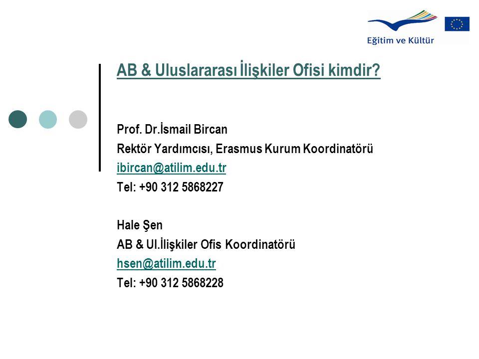 AB & Uluslararası İlişkiler Ofisi kimdir