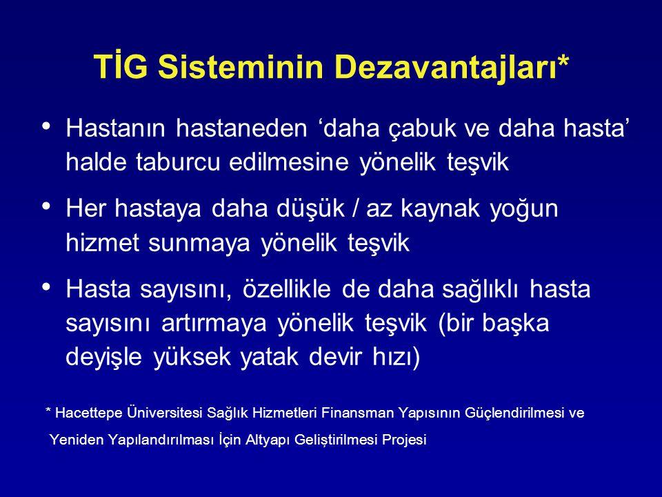 TİG Sisteminin Dezavantajları*