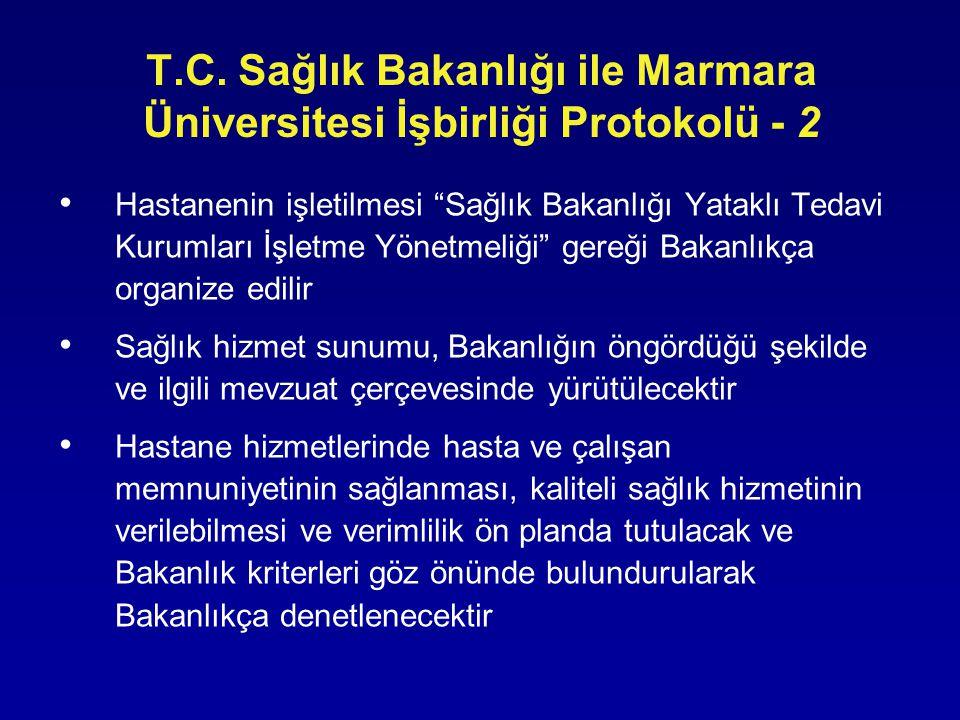 T.C. Sağlık Bakanlığı ile Marmara Üniversitesi İşbirliği Protokolü - 2