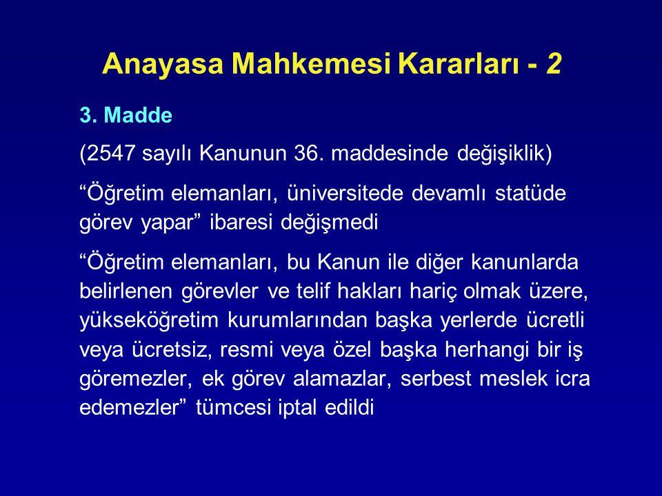 Anayasa Mahkemesi Kararları - 2