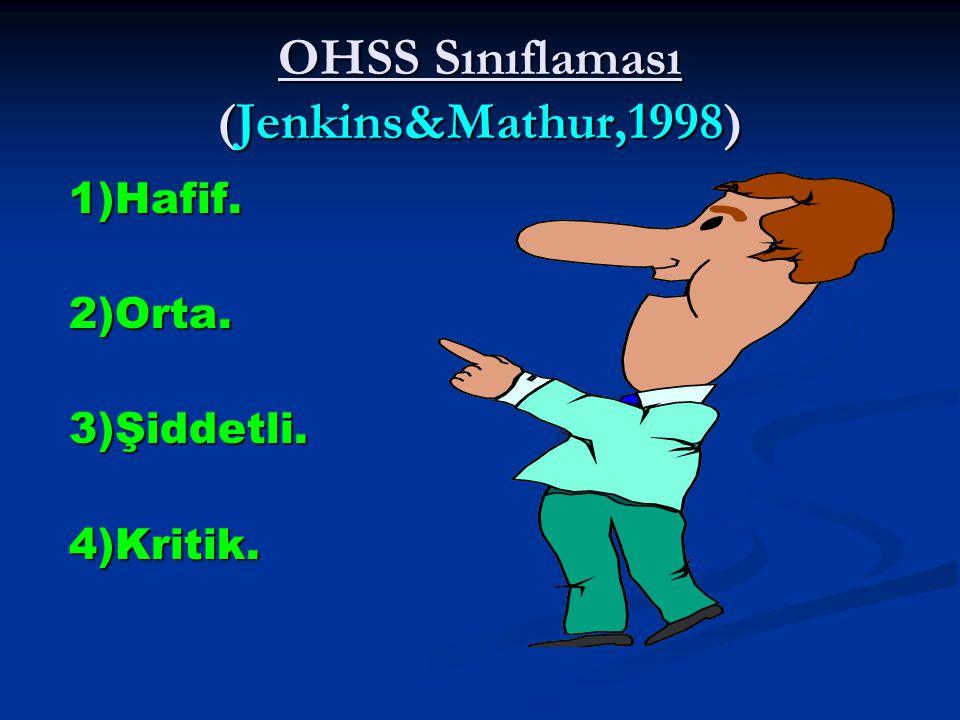 OHSS Sınıflaması (Jenkins&Mathur,1998)