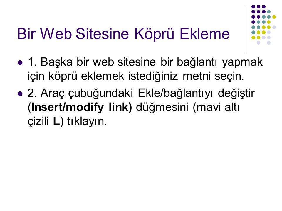 Bir Web Sitesine Köprü Ekleme