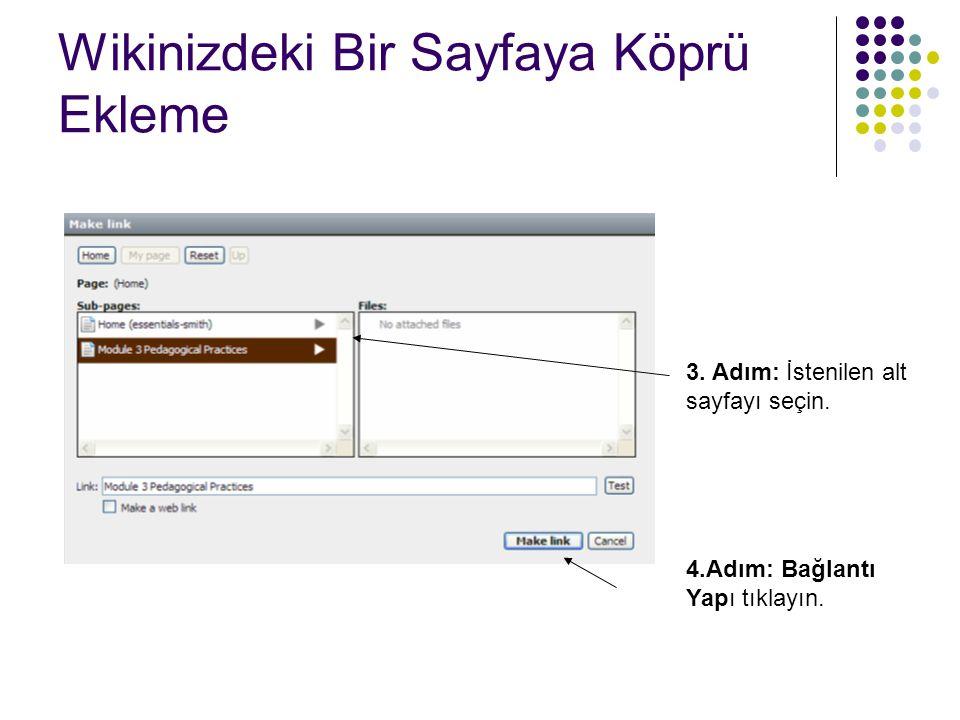 Wikinizdeki Bir Sayfaya Köprü Ekleme