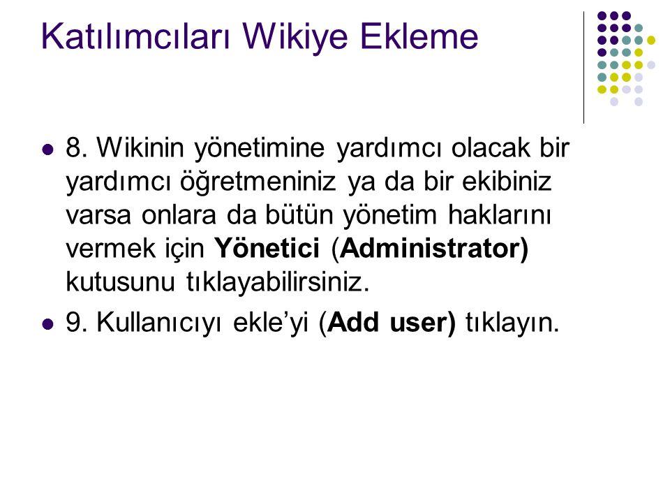 Katılımcıları Wikiye Ekleme