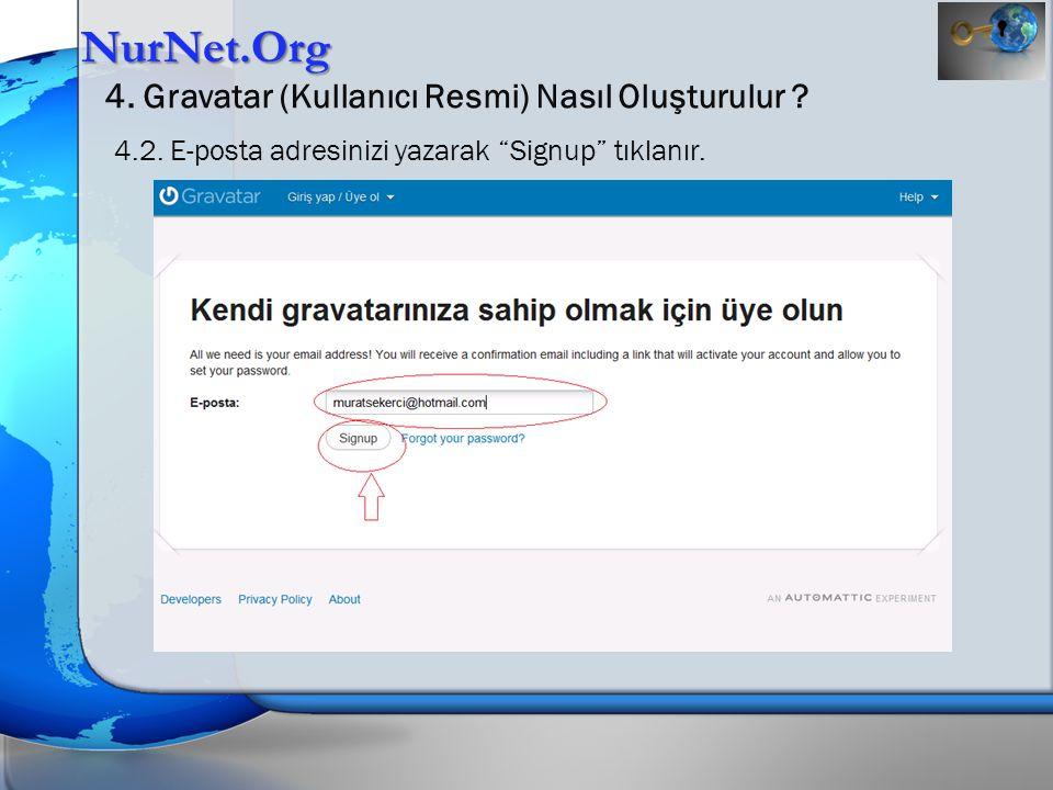 NurNet.Org 4. Gravatar (Kullanıcı Resmi) Nasıl Oluşturulur