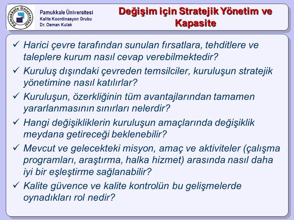 Değişim için Stratejik Yönetim ve Kapasite