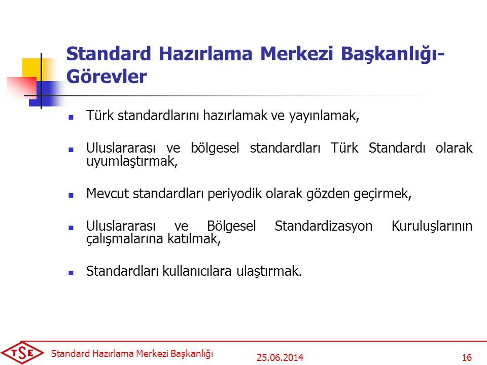 Standard Hazırlama Merkezi Başkanlığı- Görevler