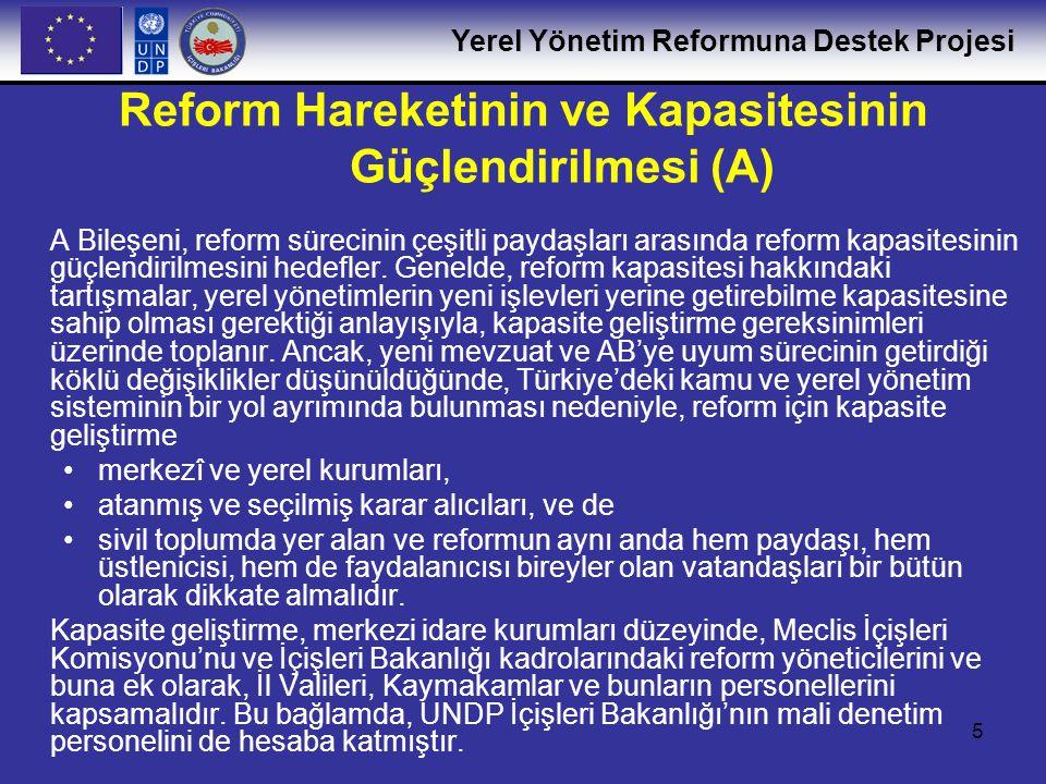 Reform Hareketinin ve Kapasitesinin Güçlendirilmesi (A)