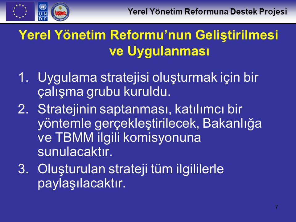 Yerel Yönetim Reformu'nun Geliştirilmesi ve Uygulanması