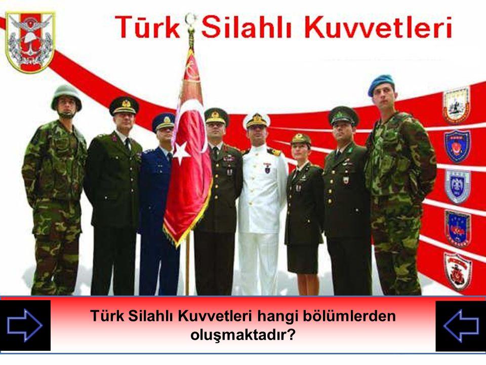 Türk Silahlı Kuvvetleri hangi bölümlerden