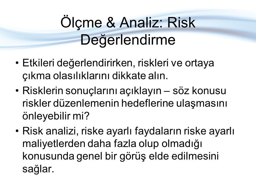 Ölçme & Analiz: Risk Değerlendirme