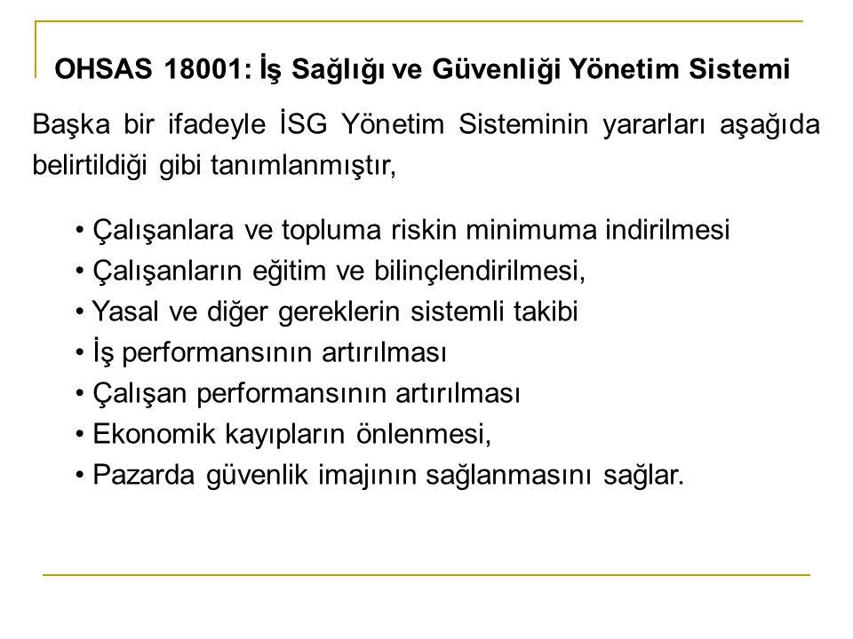 OHSAS 18001: İş Sağlığı ve Güvenliği Yönetim Sistemi