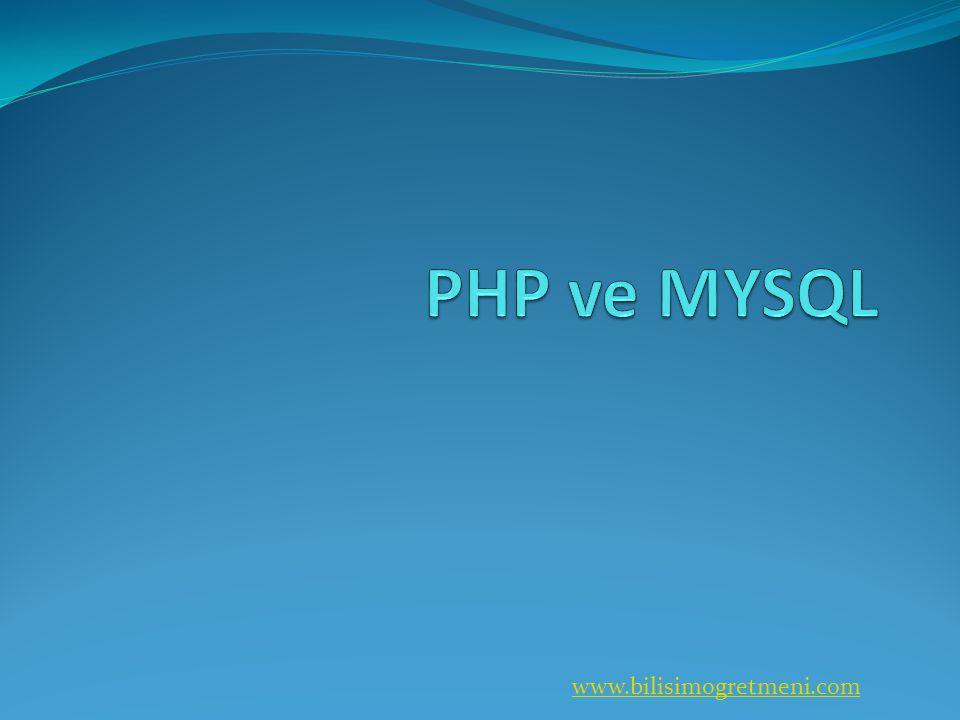 PHP ve MYSQL