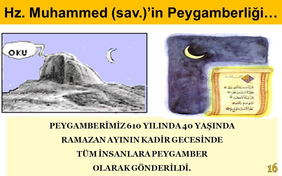 Hz. Muhammed (sav.)'in Peygamberliği…