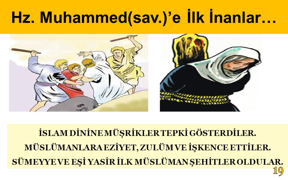 Hz. Muhammed(sav.)'e İlk İnanlar…