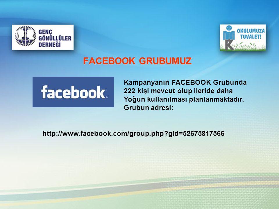 FACEBOOK GRUBUMUZ Kampanyanın FACEBOOK Grubunda