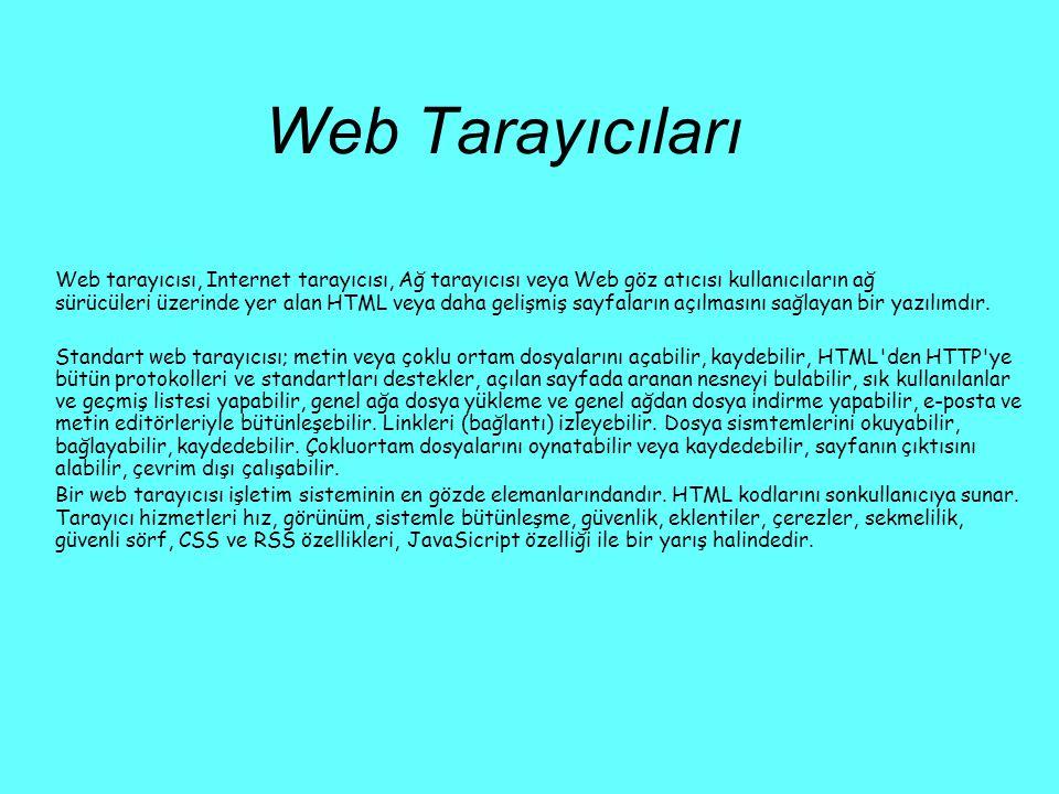 Web Tarayıcıları