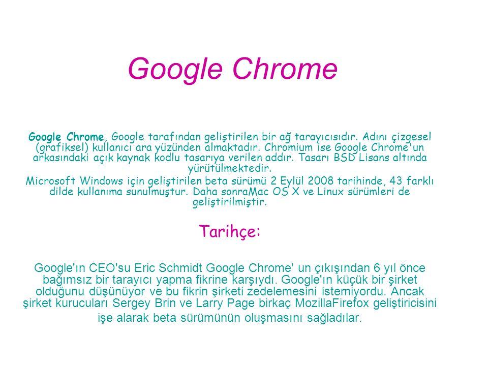 Google Chrome Tarihçe: