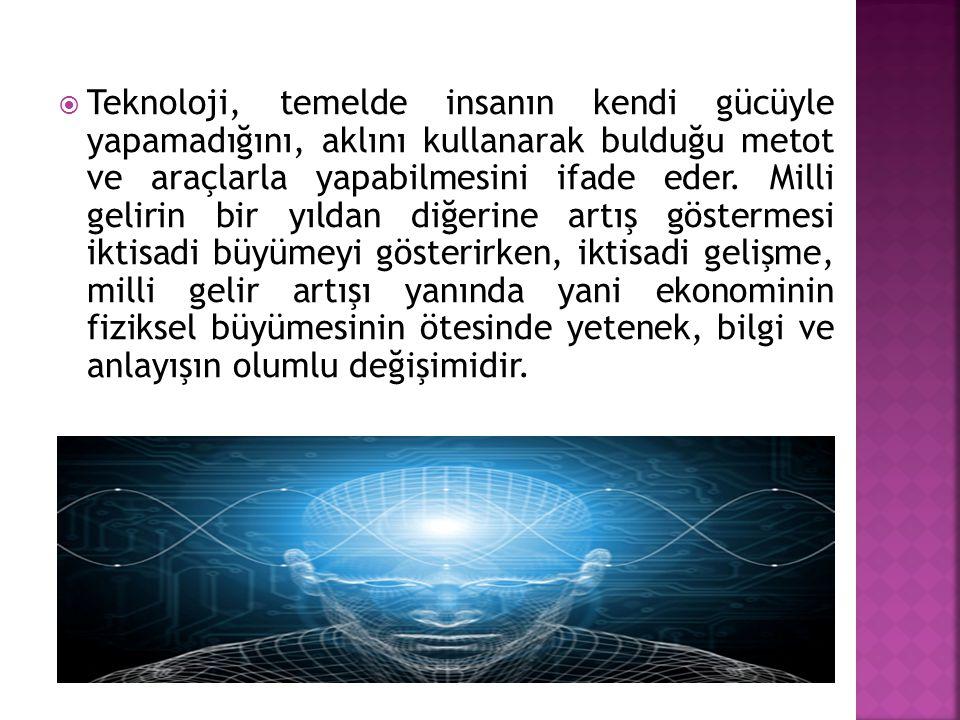 Teknoloji, temelde insanın kendi gücüyle yapamadığını, aklını kullanarak bulduğu metot ve araçlarla yapabilmesini ifade eder.