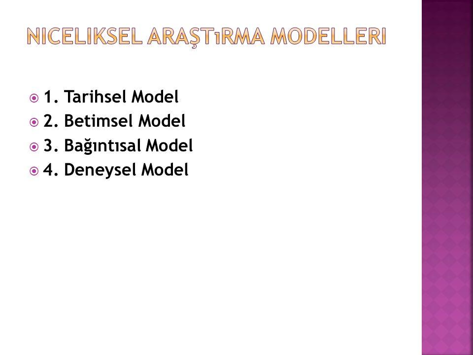 Niceliksel Araştırma Modelleri
