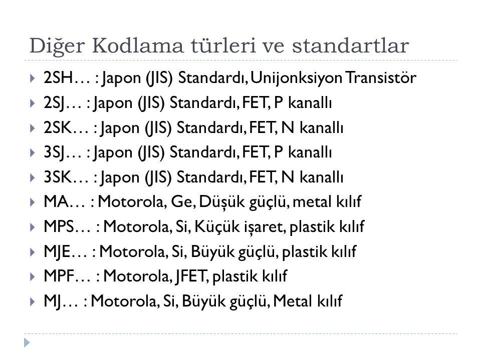 Diğer Kodlama türleri ve standartlar