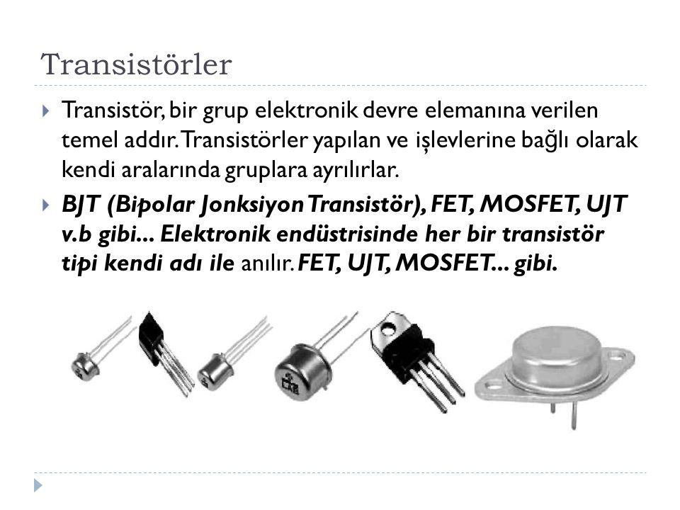 Transistörler