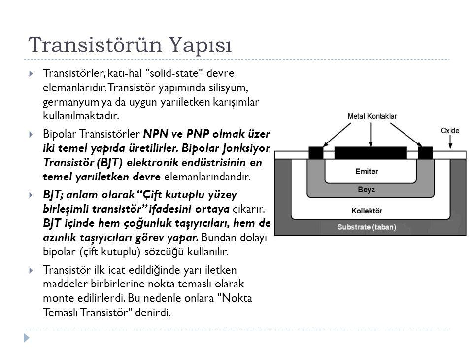 Transistörün Yapısı
