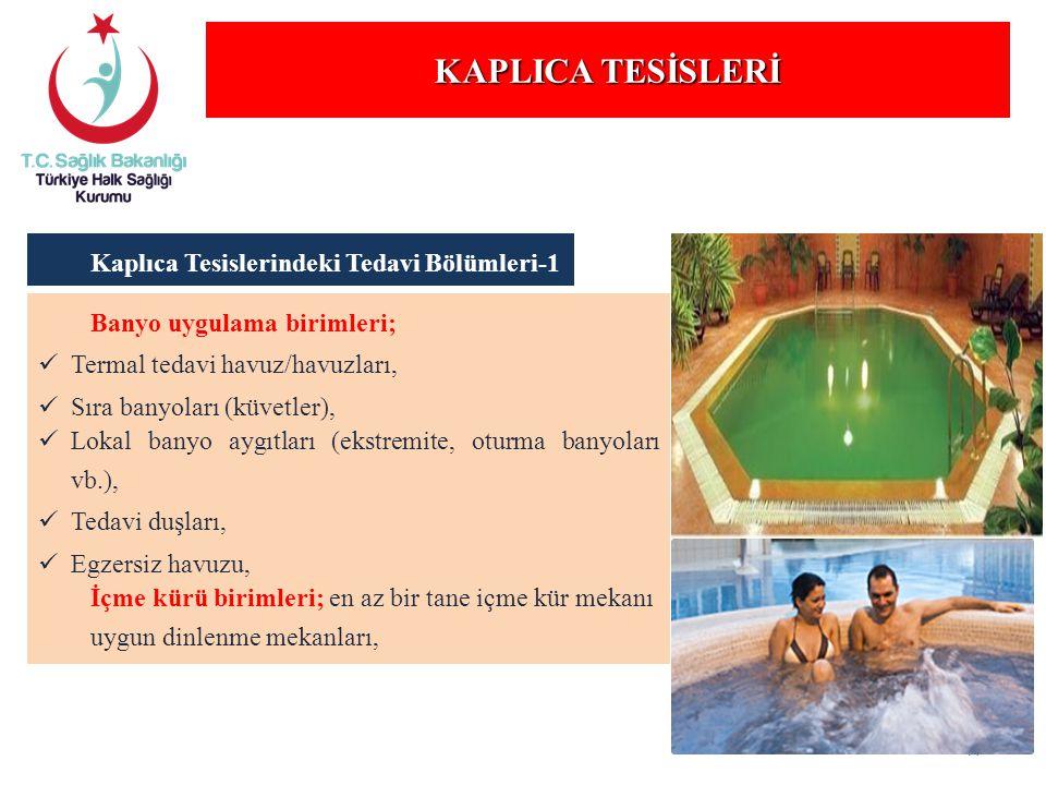 KAPLICA TESİSLERİ Kaplıca Tesislerindeki Tedavi Bölümleri-1