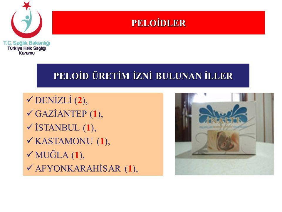 PELOİD ÜRETİM İZNİ BULUNAN İLLER