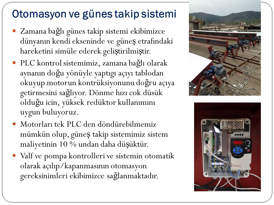 Otomasyon ve günes takip sistemi