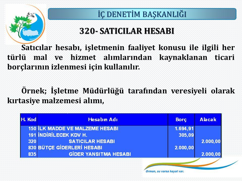 320- SATICILAR HESABI