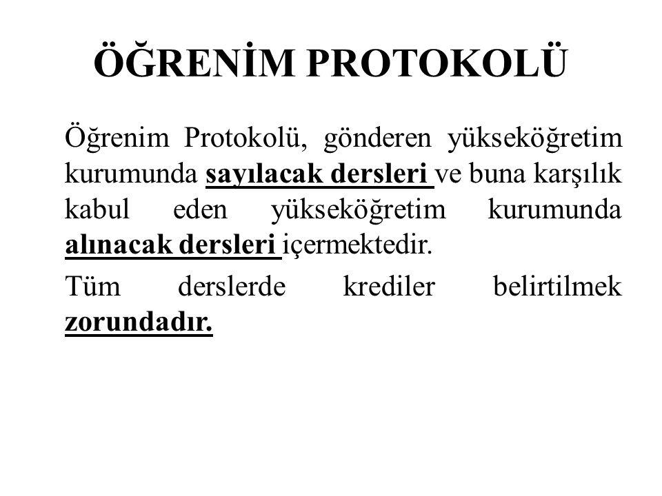 ÖĞRENİM PROTOKOLÜ