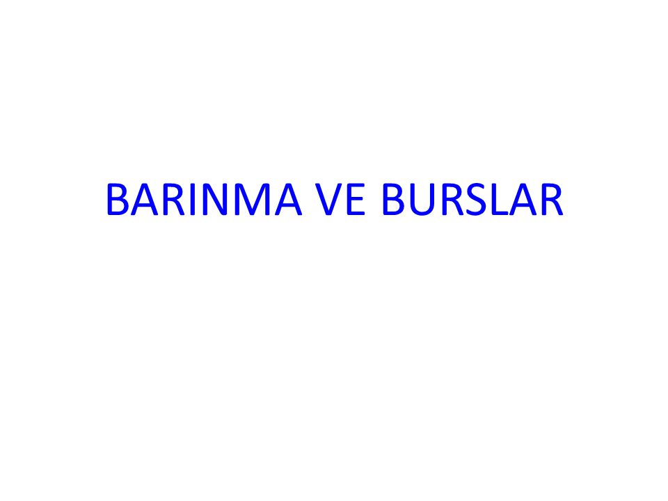 BARINMA VE BURSLAR