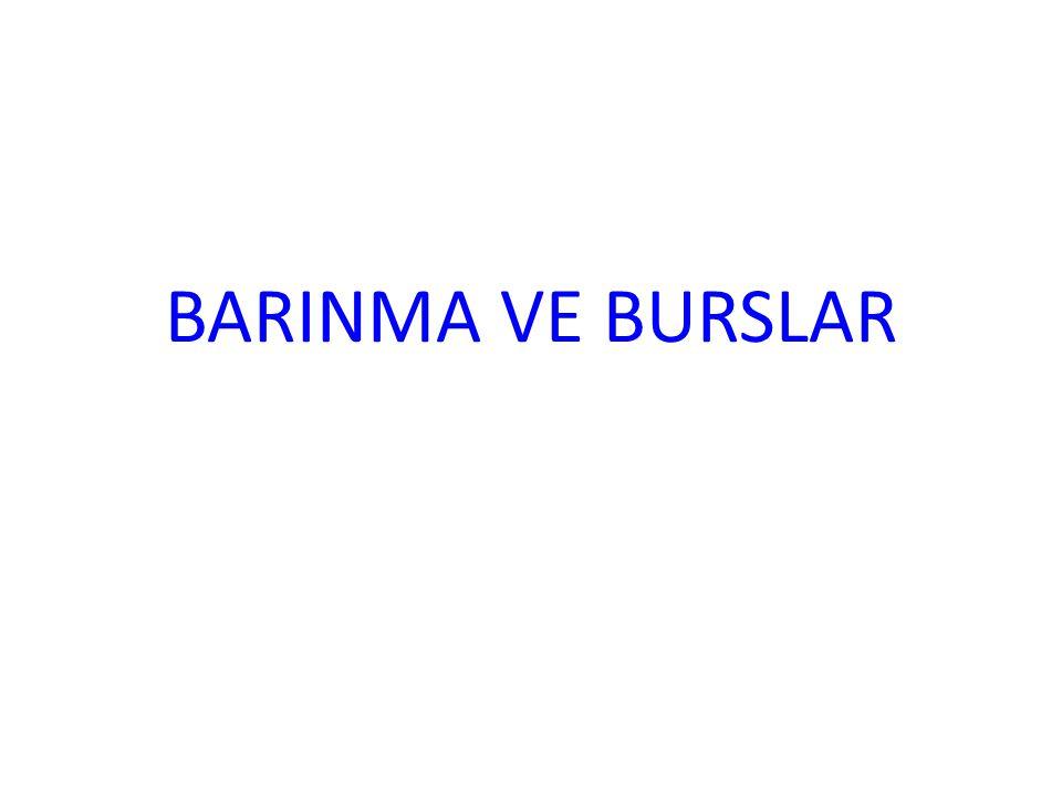 BARINMA VE BURSLAR