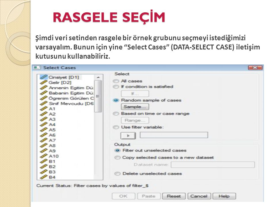 RASGELE SEÇİM