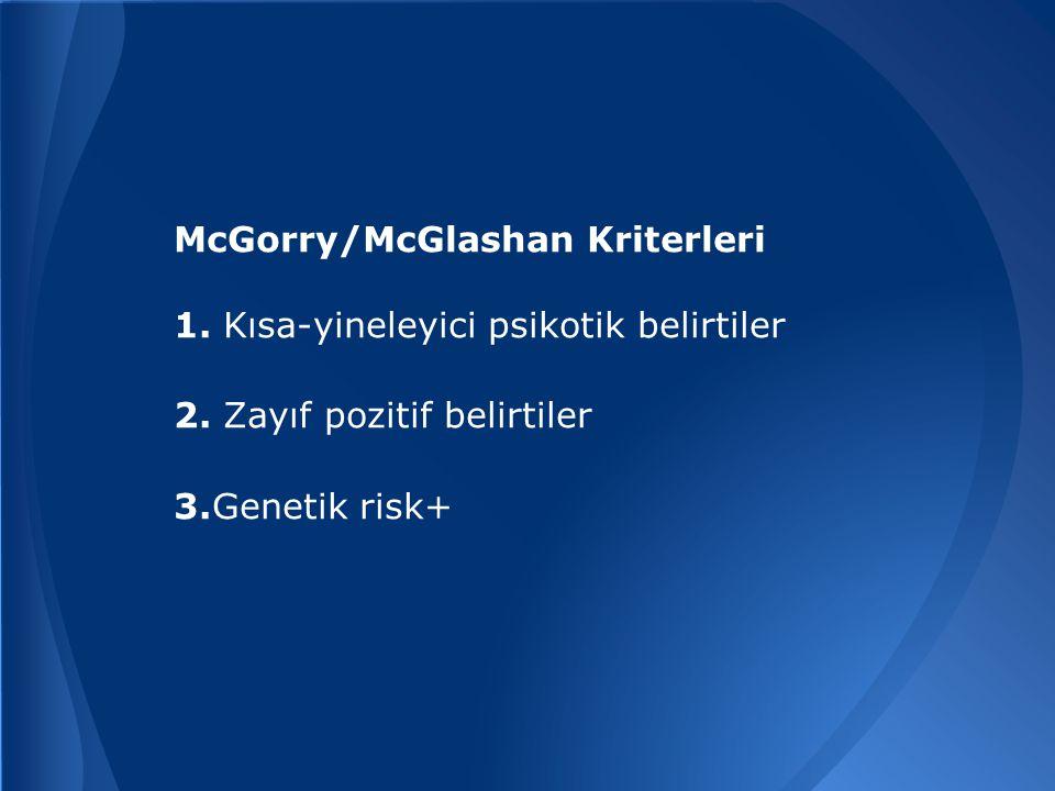 McGorry/McGlashan Kriterleri