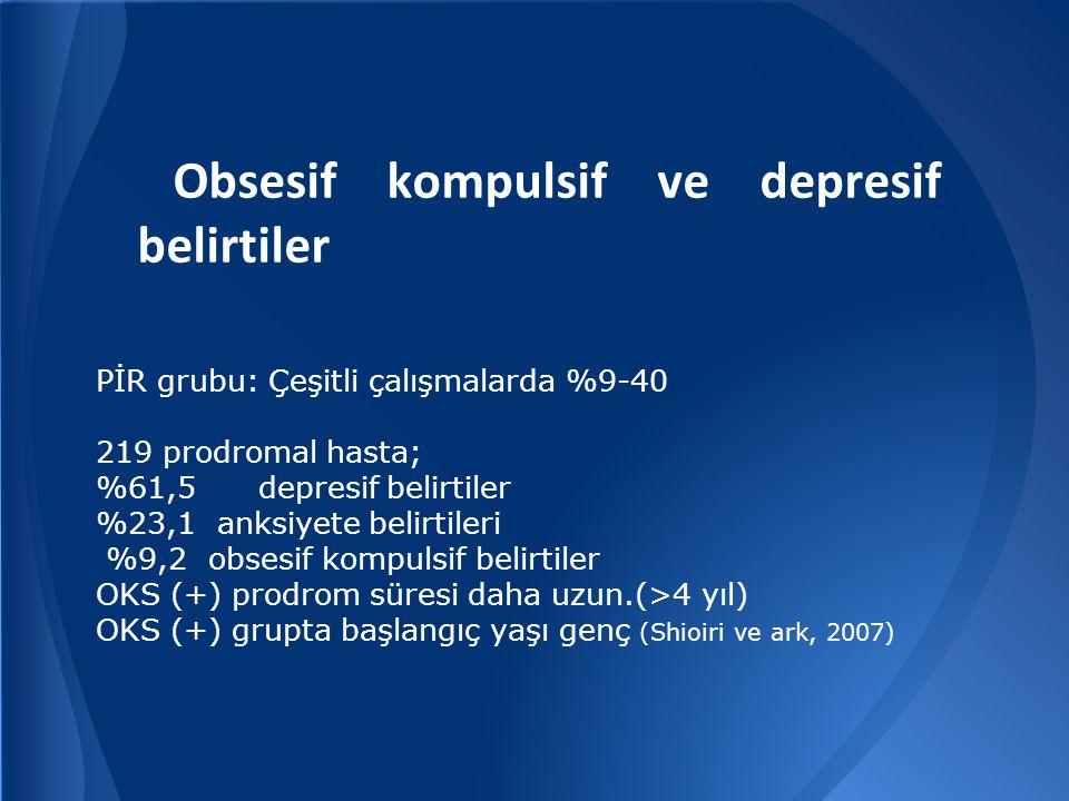 Obsesif kompulsif ve depresif belirtiler