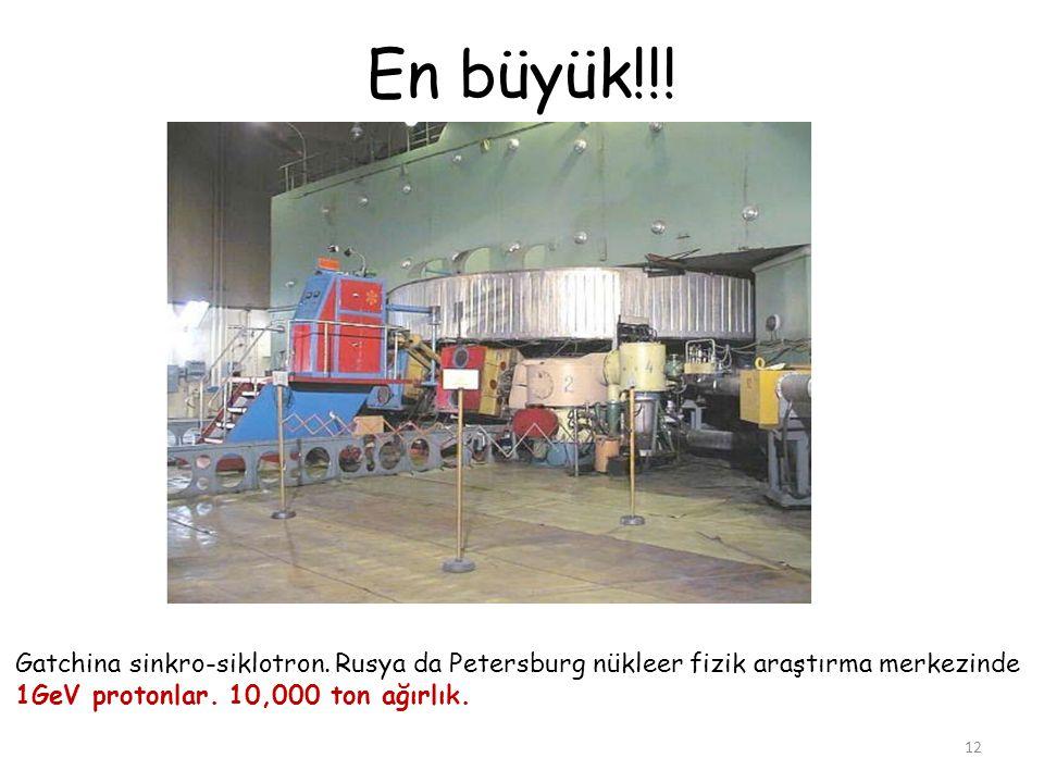 En büyük!!. Gatchina sinkro-siklotron. Rusya da Petersburg nükleer fizik araştırma merkezinde.