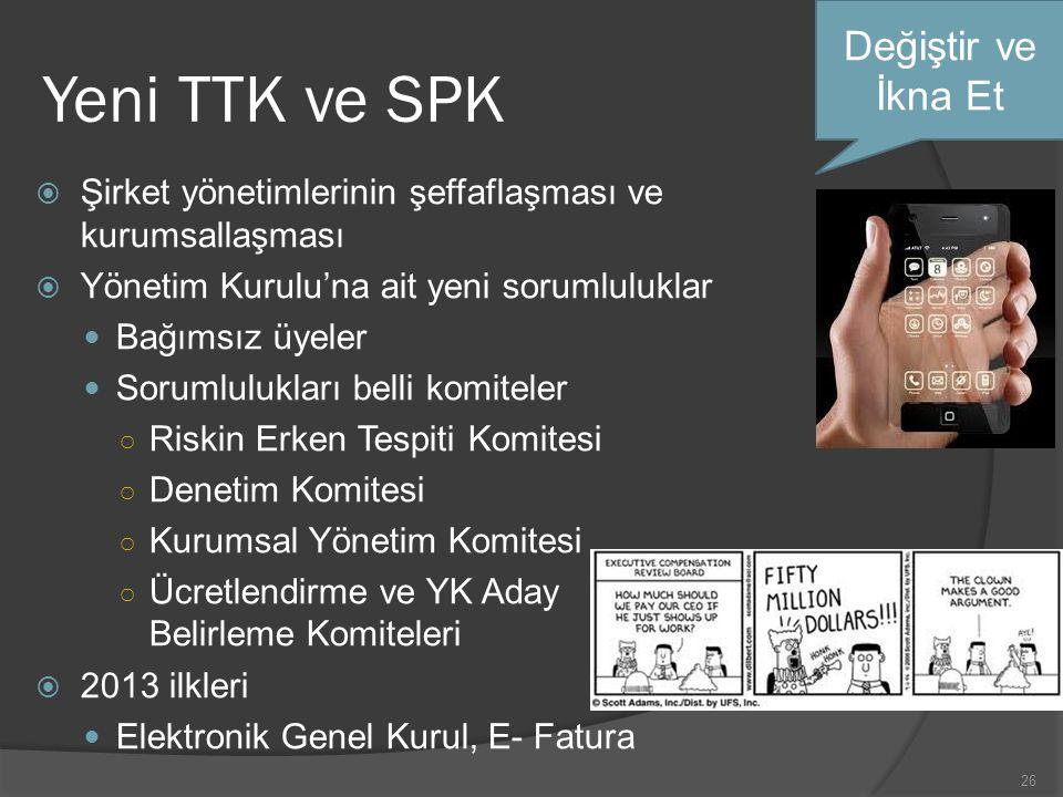 Yeni TTK ve SPK Değiştir ve İkna Et
