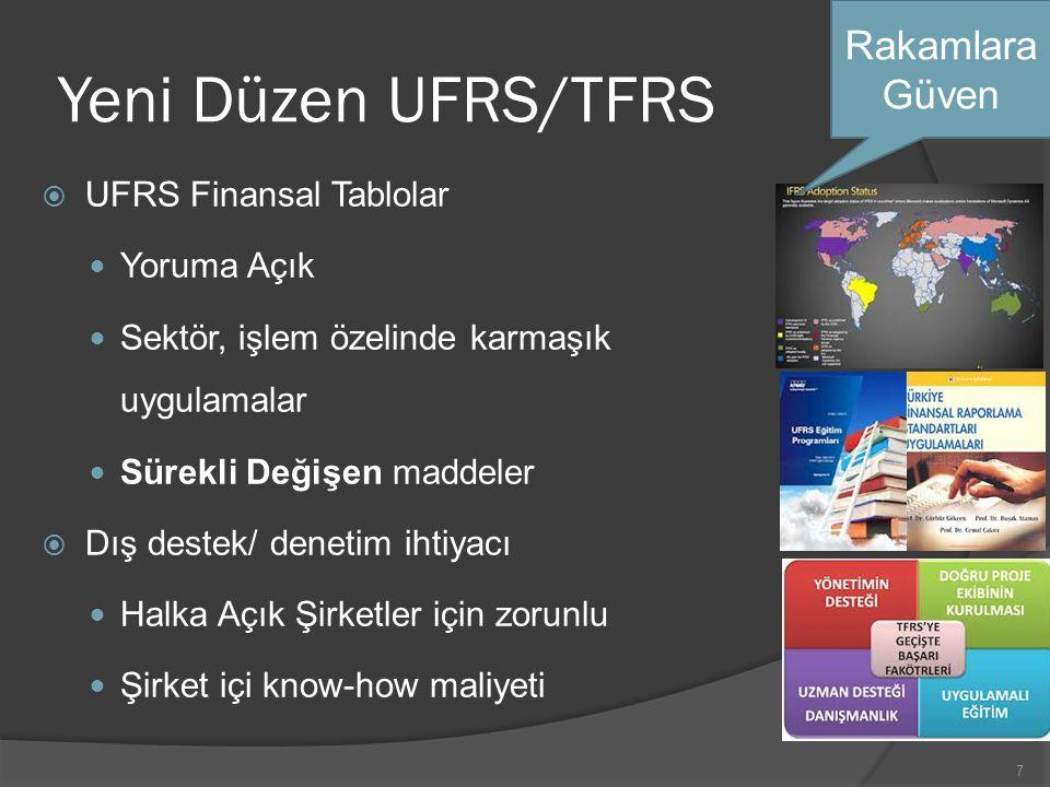 Yeni Düzen UFRS/TFRS Rakamlara Güven UFRS Finansal Tablolar