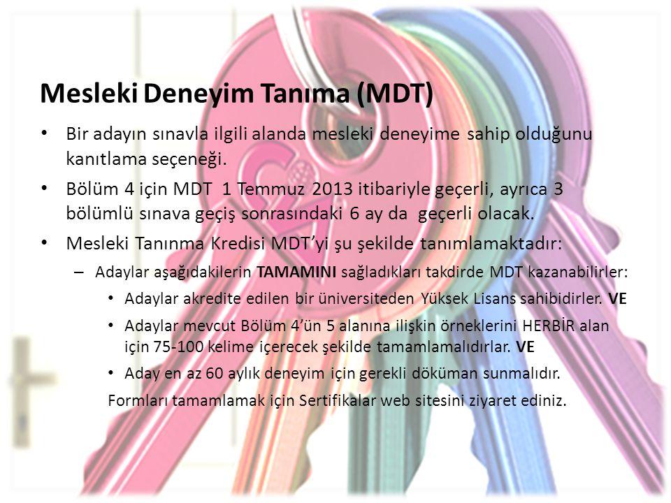 Mesleki Deneyim Tanıma (MDT)
