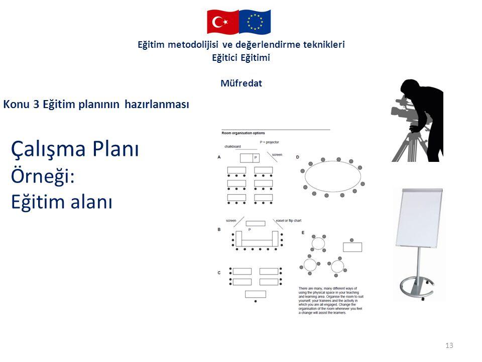 Çalışma Planı Örneği: Eğitim alanı