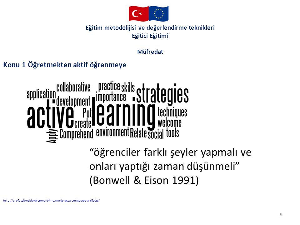 Eğitim metodolijisi ve değerlendirme teknikleri Eğitici Eğitimi Müfredat