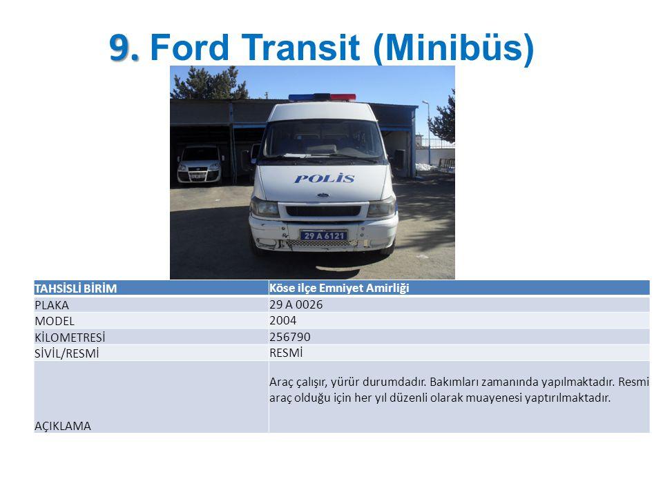 9. Ford Transit (Minibüs)